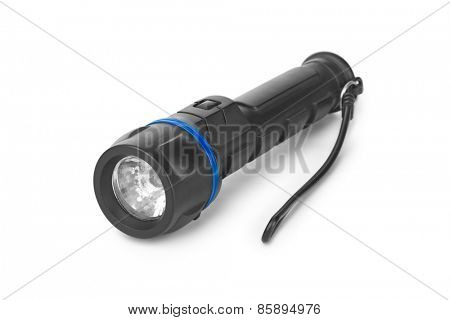 Flashlight isolated on white background