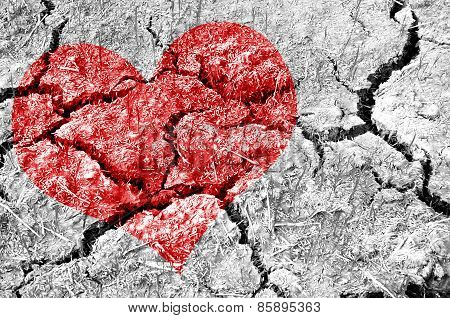 Natural Red Heart Shape.