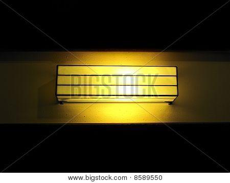 Outdoor Lamp At Night