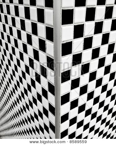 Black And White Checkerboard Tiles