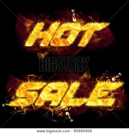 Fire Text Hot Sale