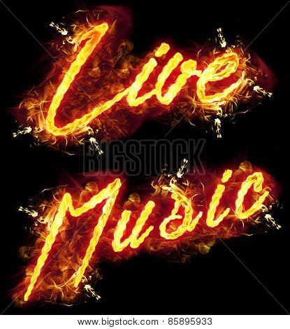 Fire Text Live Music