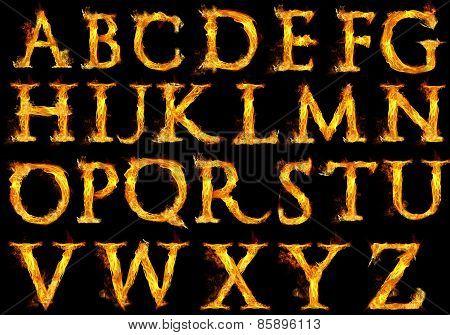 Fire Alphabet Letters