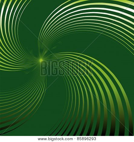 Abstract green background with swirl