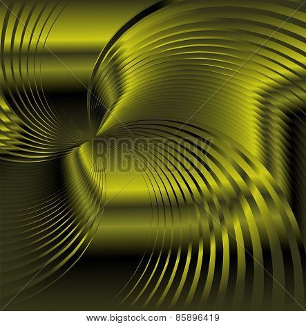 Abstract green metallic background with swirl