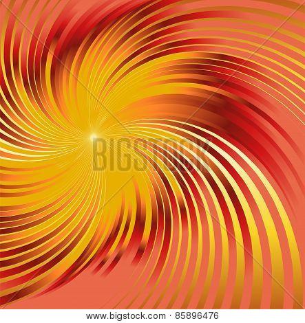 Abstract orange metallic background with swirl