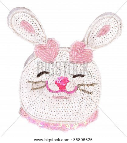 Easter Beaded Rabbit Head Ornament