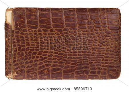 Old Crocodile Leather Brown Book
