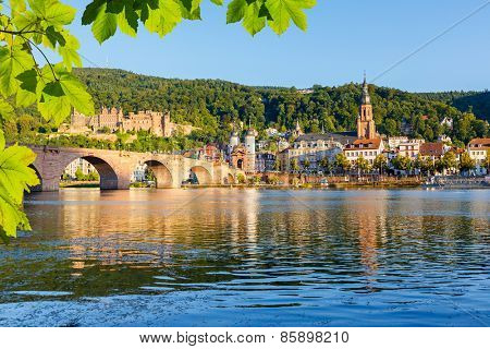 Bridge over Neckar in Heidelberg, Germany