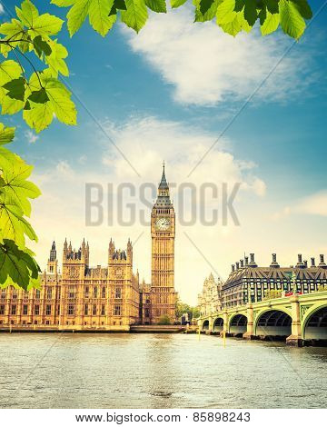 Big Ben at summer in London, UK