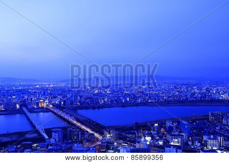 Osaka night view