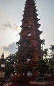 picture of trans  - Buddhist Tran Quoc Pagoda in Hanoi vietnam - JPG