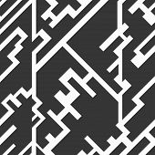picture of circuits  - monochrome circuit seamless texture vector art and illustration file - JPG
