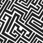 foto of maze  - monochrome maze seamless pattern  - JPG