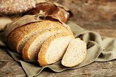 image of fresh slice bread  - Sliced fresh bread - JPG
