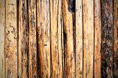 foto of log fence  - fence weathered wood background - JPG