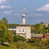 stock photo of paysage  - Tikhvin Church in Suzdal Golden Ring of Russia - JPG