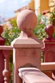 pic of balustrade  - Detail of balustrade in city Costa Adeje Tenerife Canary Islands Spain - JPG
