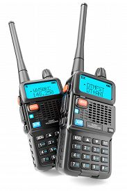 pic of antenna  - A group of two portable Walkie - JPG