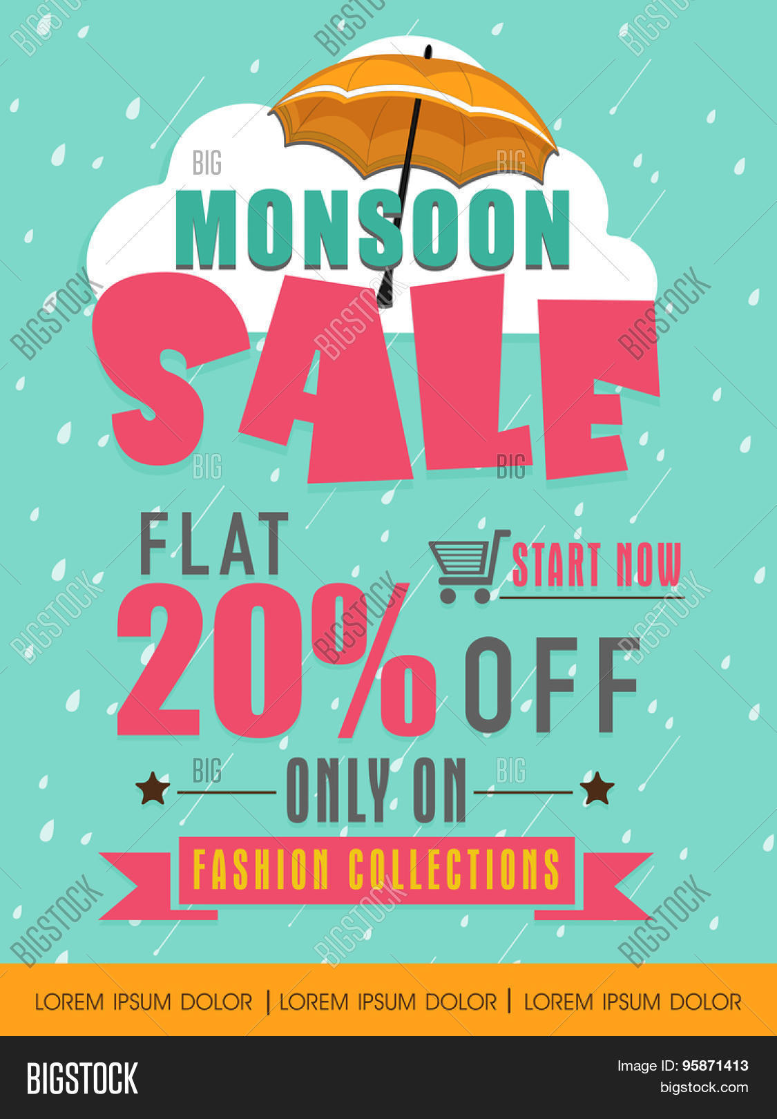 monsoon flat % discount offer on fashion collection monsoon flat 20% discount offer on fashion collection creative template banner