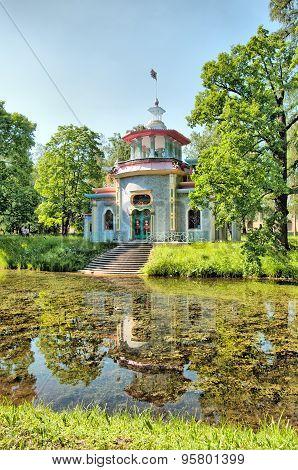 Tsarskoye Selo (Pushkin). Saint-Petersburg, Russia. The Creaking (Chinese) Summer-House