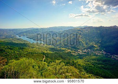 Geres, Portugal summer mountain landscape
