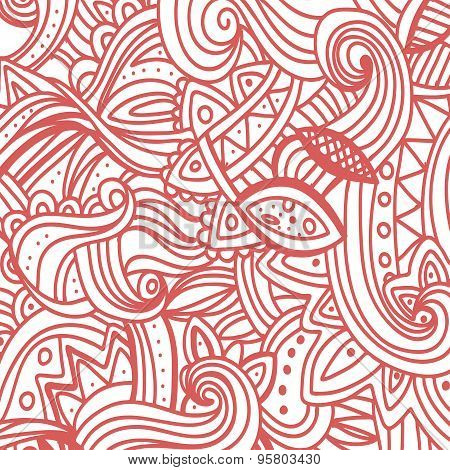 Multicolor Pattern Doodles- Decorative Sketchy Notebook Design- Hand-Drawn Vector Illustration Backg