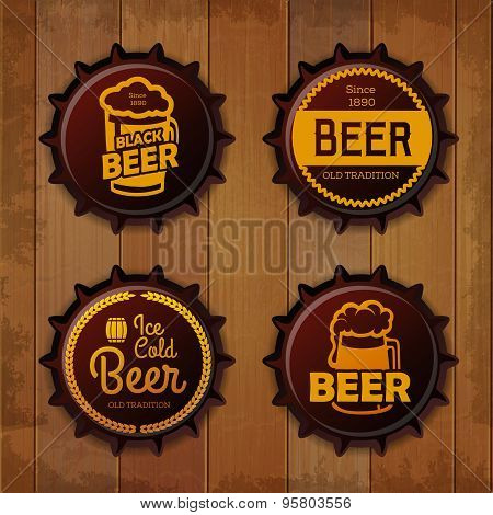 Bottle Cap Design. Beer Labels
