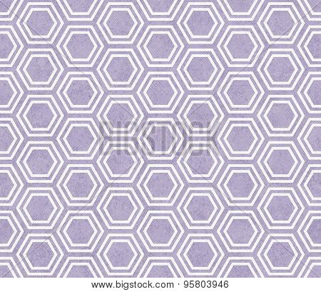 Purple And White Hexagon Tile Pattern Repeat Background