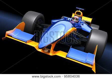 Generic Blue Race Car