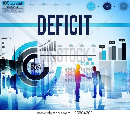 Deficit Crisis Financial Economic Bankruptcy Concept