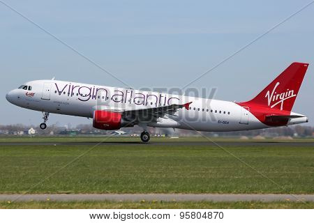 Virgin Atlantic Airbus A320 Airplane