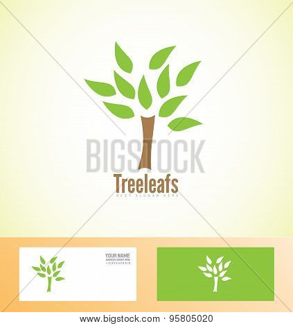 Tree Leafs Logo Icon Nature Bio