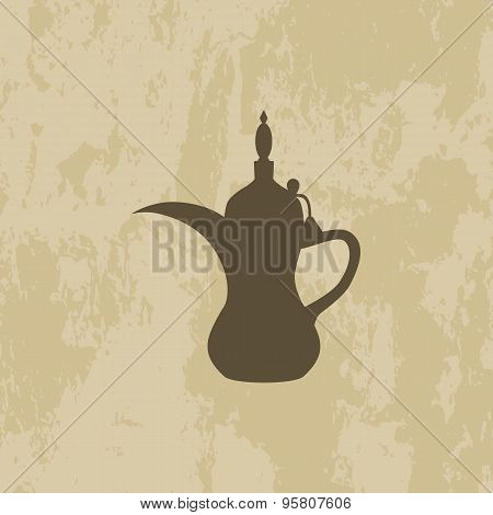 Arabic Coffee Pot Old Background