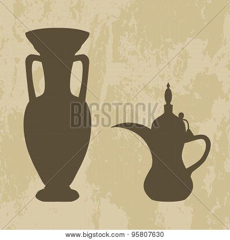 Jug And Coffee Pot Arabic