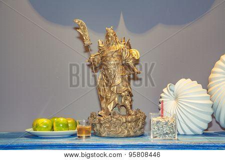 Statue Of Guan Yu;lord Guan