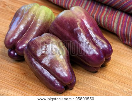 Nutritious Purple Bell Peppers
