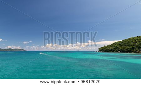 Bright Seascape With Islands