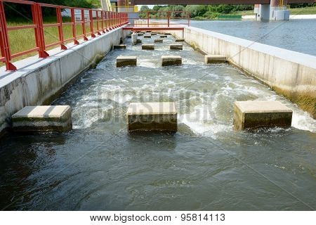 Overflow At Weir