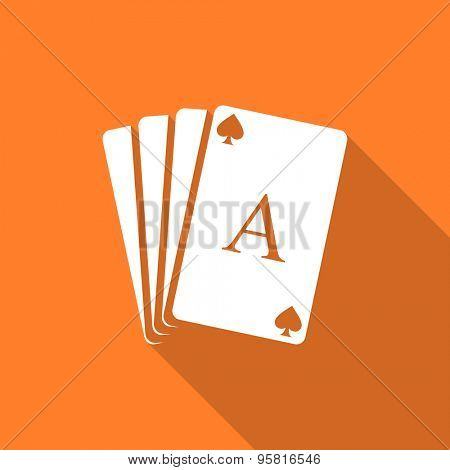 card flat design modern icon with long shadow for web and mobile app
