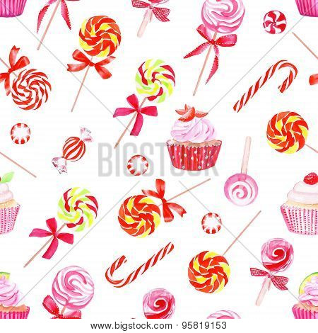 Colorful Sugarplums Watercolor Vector Print