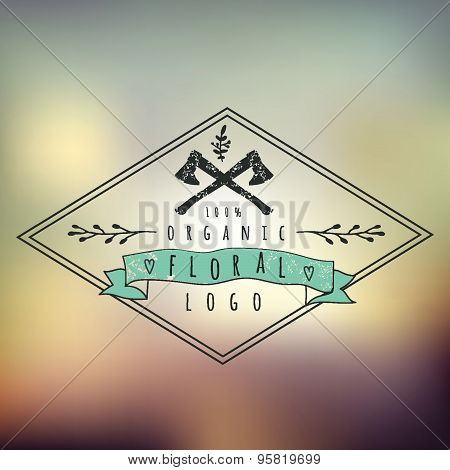 Abstract Background With Typographical Quote  For Logo Desogn, Vector Design.