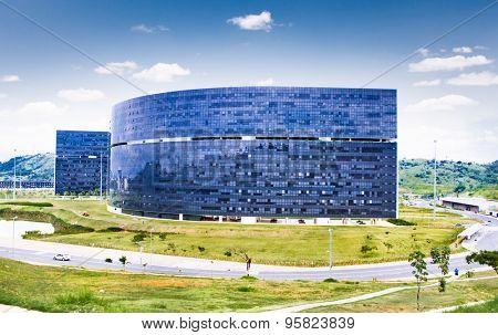 BH, BRAZIL- APRIL 22, 2015:City Administrative Building on April 22, 2015, Belo Horizonte, Brazil. Belo Horizonte is the capital of the state of Minas Gerais, second most populous state in Brazil.