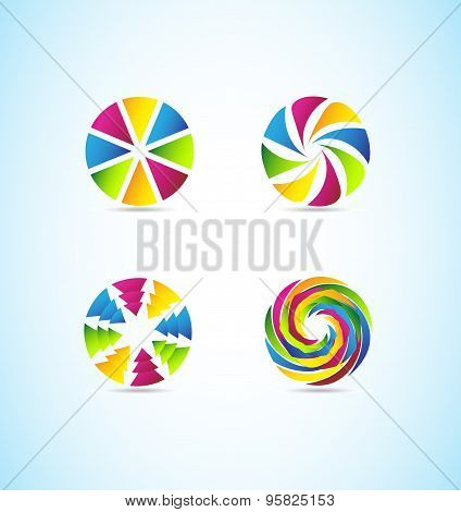 Colors Circle Corporate Logo Set