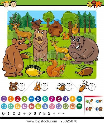 Counting Animals Cartoon Game