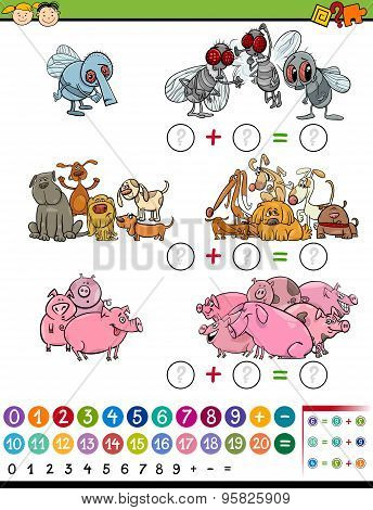 Calculate Game Cartoon Illustration