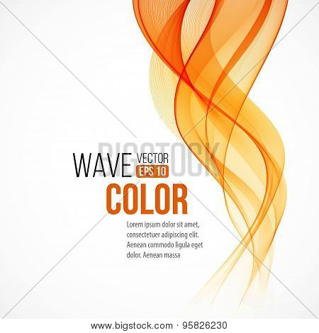 Abstract arange wave design element. Vector illustration