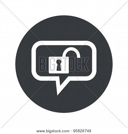 Round unlocked dialog icon