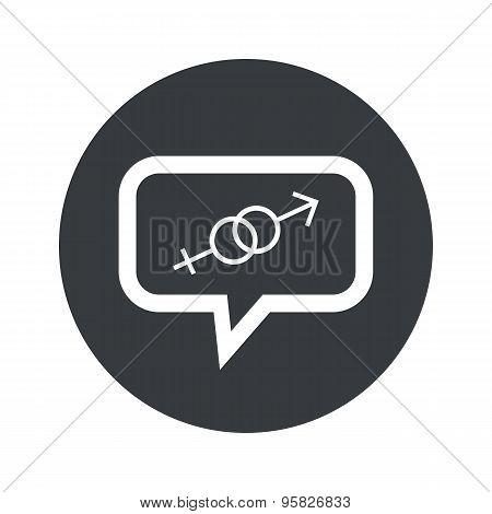 Round gender dialog icon