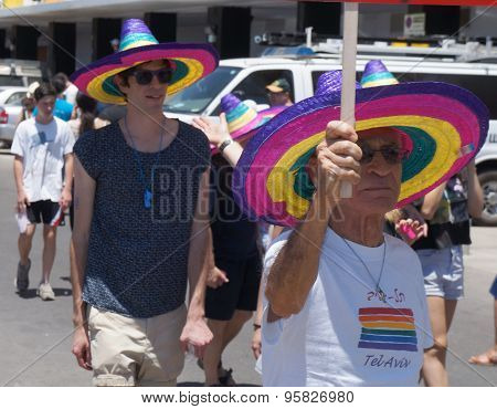 Gay parade in Tel-Aviv